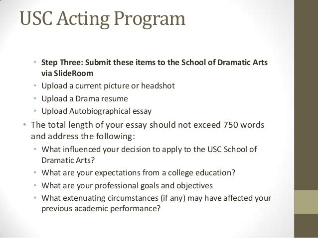 usc supplement essay length The keystone of the usc suzanne dworak-peck master in social work application for admission is the statement of purpose your statement of purpose should encapsulate.