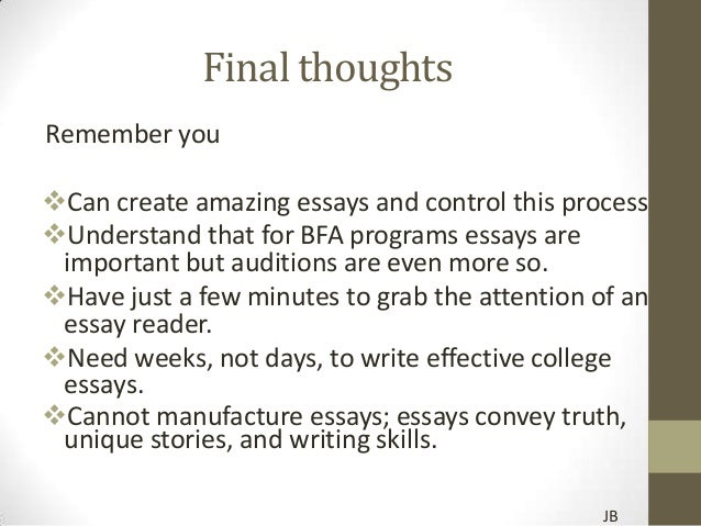 amazing college entrance essays