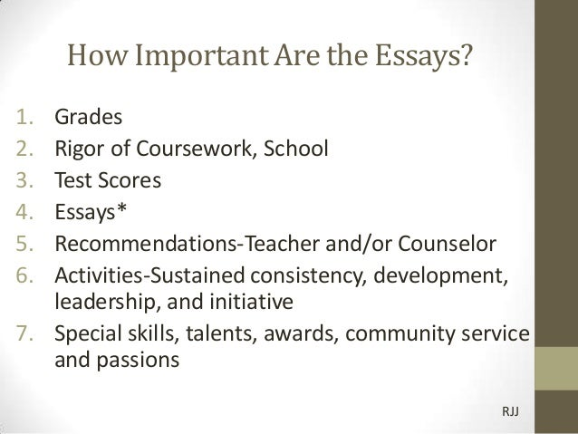 importance of college essay in application for amusement