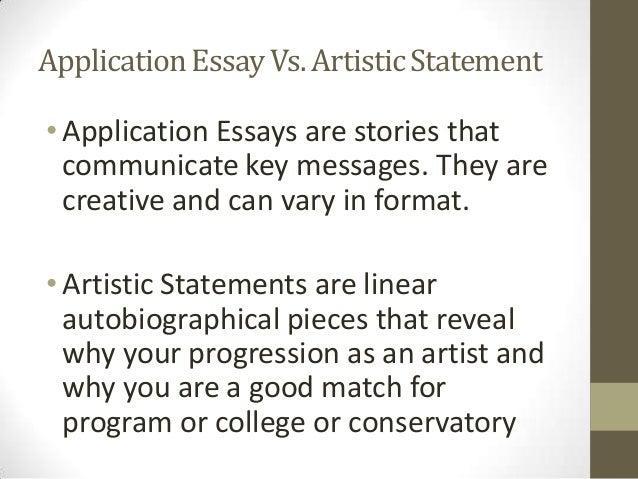 artistic essay