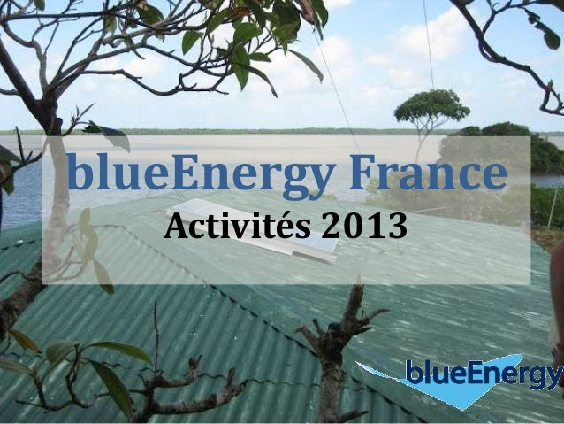 blueEnergy France Activités 2013