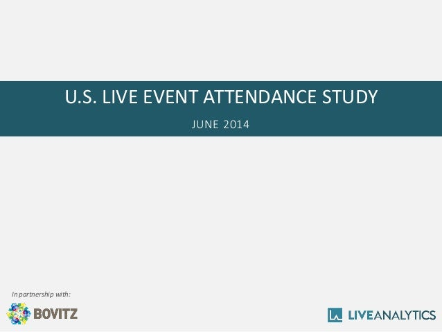U.S. LIVE EVENT ATTENDANCE STUDY  JUNE 2014  In partnership with: