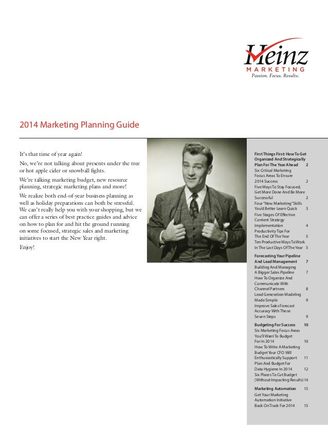 2014 Marketing Planning Guide It's that time of year again! No, we're not talking about presents under the tree or hot app...