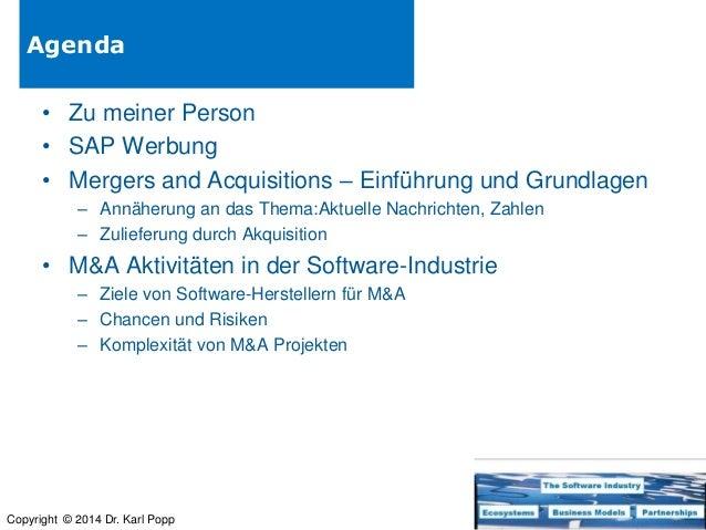 Mergers and Acquisitions in the software industry - deutscher Vortrag Slide 2