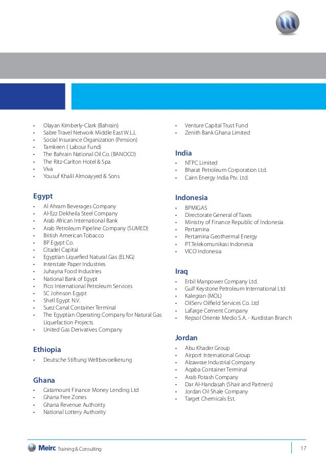 Meirc 2014 directory