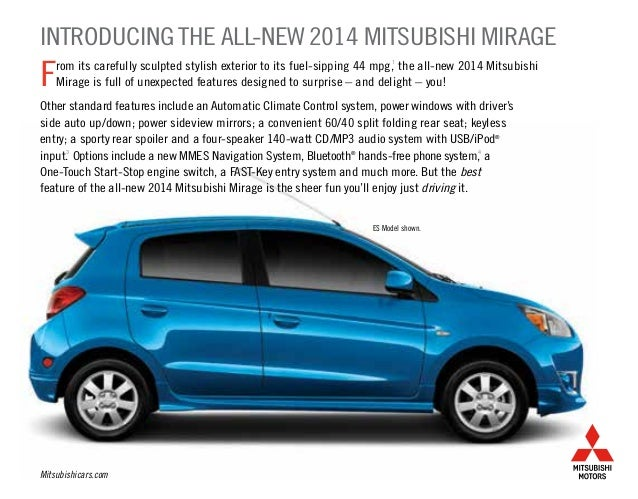 2014 Mitsubishi Mirage Brochure