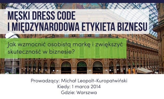Dress Code i Etykieta