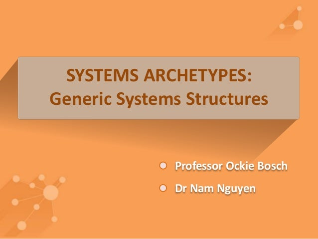 SYSTEMS ARCHETYPES:  Generic Systems Structures  Professor Ockie Bosch  Dr Nam Nguyen