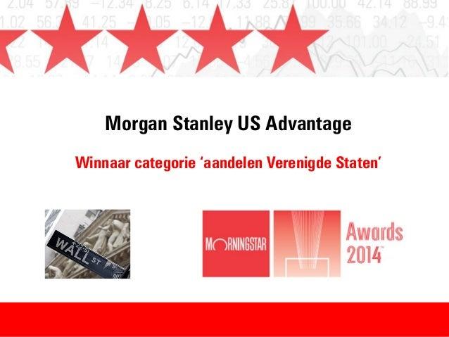 Morgan Stanley US Advantage Winnaar categorie 'aandelen Verenigde Staten'