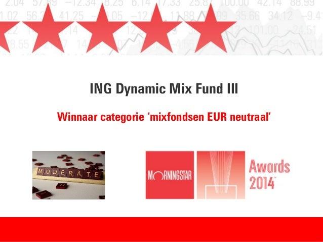 ING Dynamic Mix Fund III Winnaar categorie 'mixfondsen EUR neutraal'
