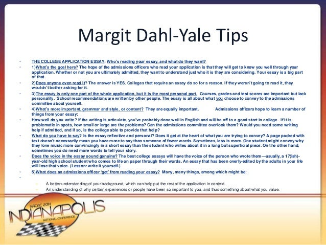 nacac make your stories pop strategies to help students s 13 margit dahl yale tips bull the college application essay