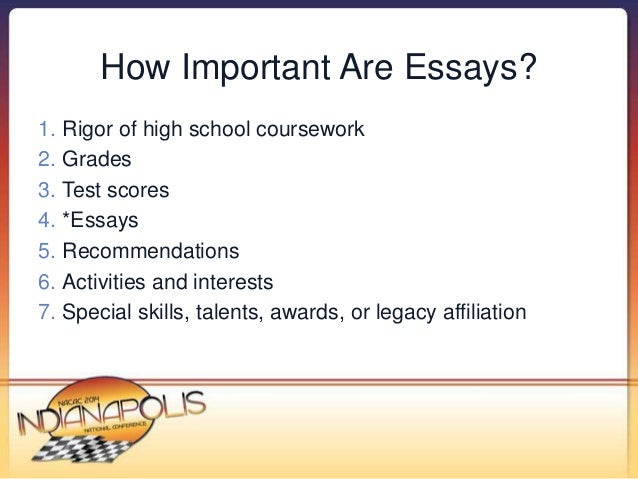 nacac make your stories pop strategies to help students s  4 how important are essays