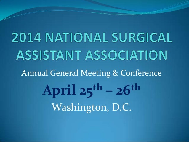 Annual General Meeting & Conference April 25th – 26th Washington, D.C.
