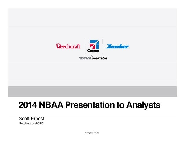 Textron Aviation Analyst Meeting at NBAA October 2014