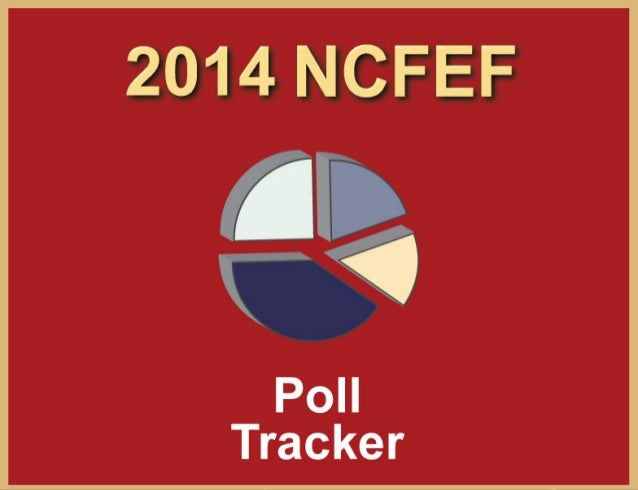 North Carolina FreeEnterprise Foundation www.ncfef.org  The NCFEF Poll Tracker is aggregation of all publicly released pol...