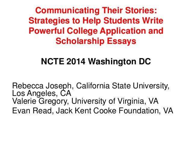 California state university admission essay