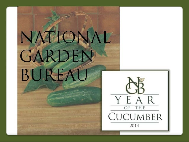 2014 National Garden Bureau's Year of the Cucumber
