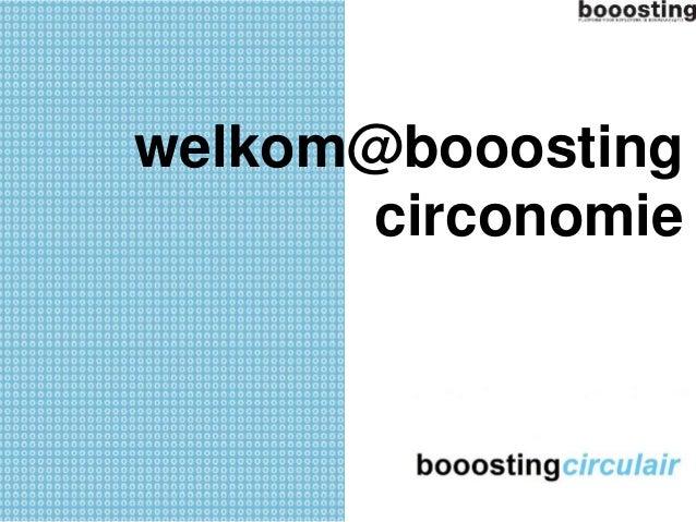 welkom@booosting  circonomie