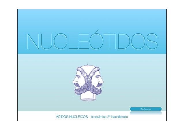 NUCLEÓTIDOS  @profesorjano  ÁCIDOS NUCLEICOS - bioquímica 2º bachillerato