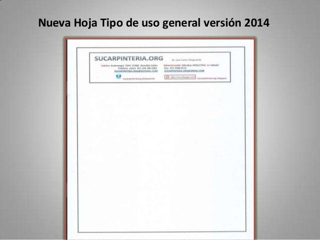 Nueva Hoja Tipo de uso general versión 2014