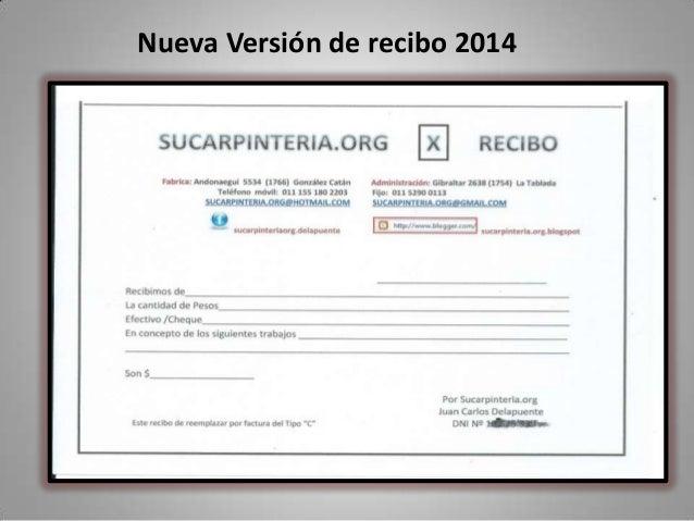 Nueva Versión de recibo 2014
