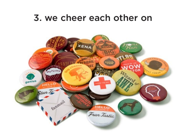 3. we cheer each other on