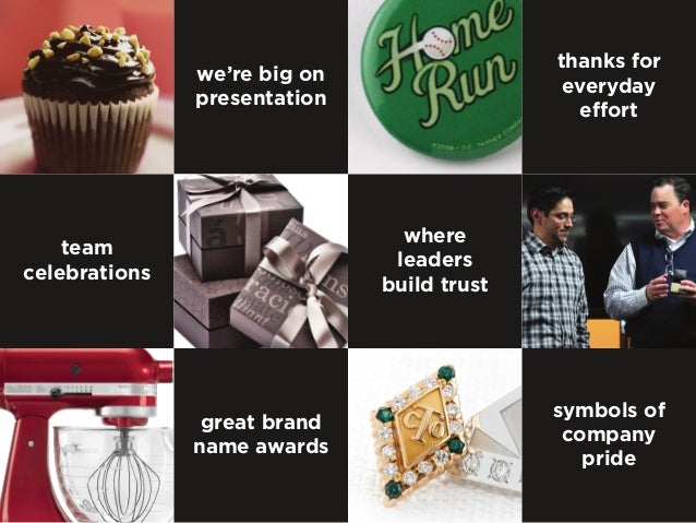 team celebrations we're big on presentation thanks for everyday effort great brand name awards where leaders build trust s...