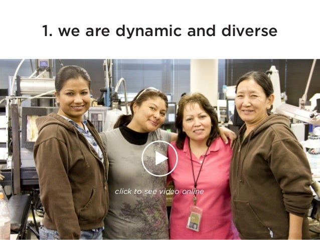1. we are dynamic and diverse click to see video online