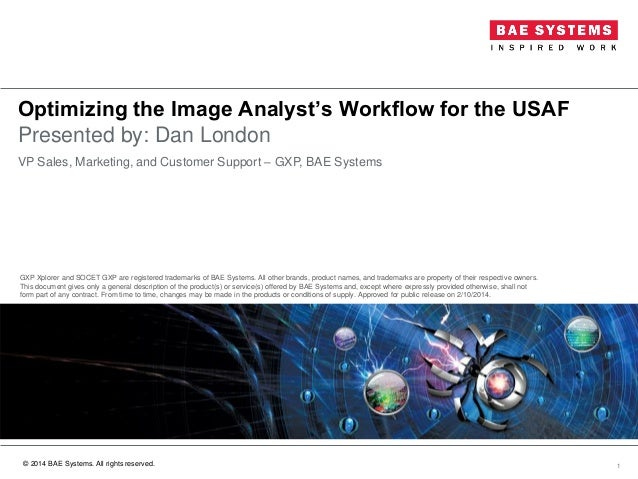 Optimizing the image analyst's workflow for the United States Air For…
