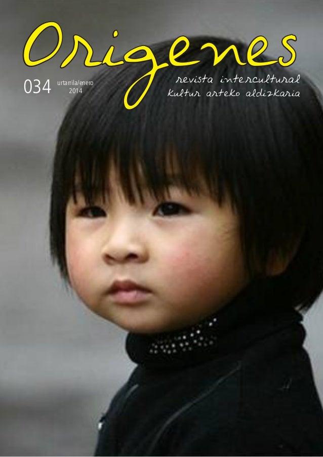 Origenes actualidad  034  revista intercultural  urtarrila/enero 2014  kultur arteko aldizkaria  1