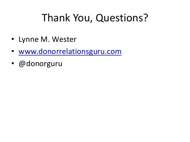 Donor Relations and Campaigns