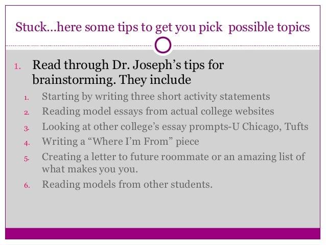 How to write a killer college essay
