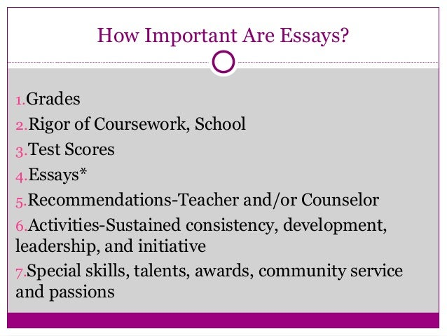 College application essay pay rules