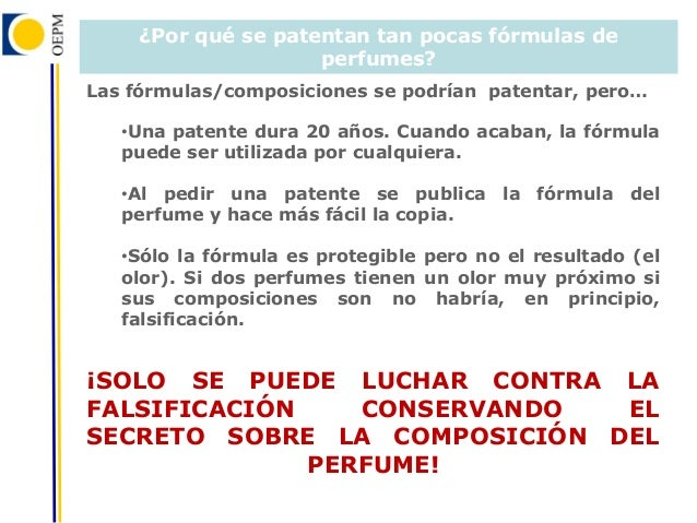 formula de perfume