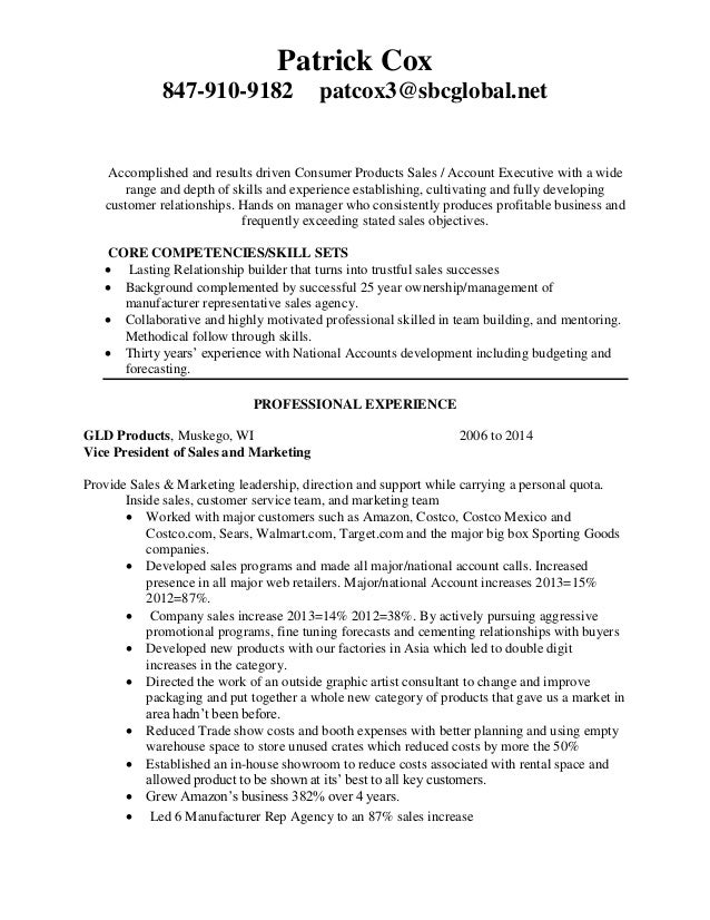 patrick cox for profit resume