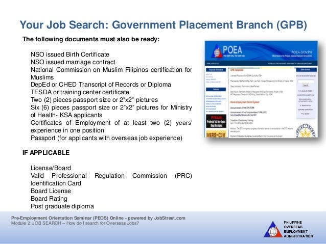Job search jobstreet