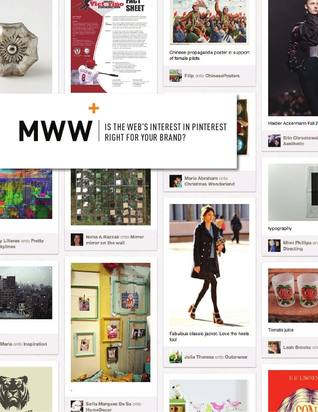 IS THE WEB'S INTEREST IN PINTEREST RIGHT FOR YOUR BRAND? © MWW GROUP, ALL RIGHTS RESERVED 1 IS THE WEB'S INTEREST IN PINTE...