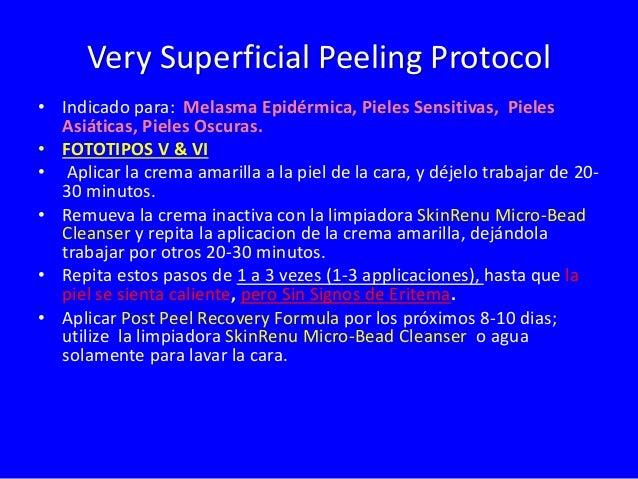 Tratamiento Professional  Arrugas Superficiales/Envejecimiento Inicial  Melasma Epidermico y Fototipo VI  Yellow  Peel  1-...