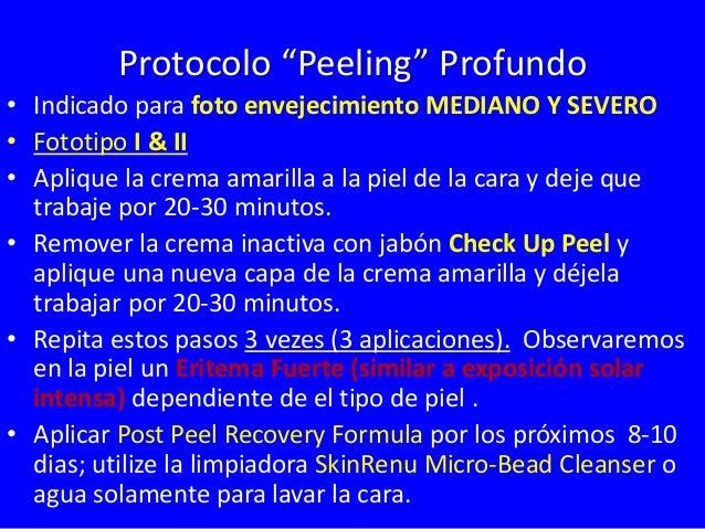 Tratamiento Professional  Arrugas Medianas / Envejecimiento Mediano  Fototipo I y II  Yellow  Peel  2-6 Tratamientos  2-6 ...