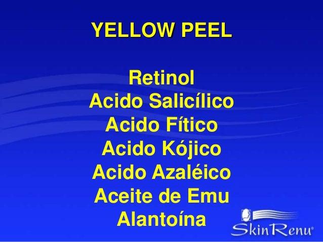 YELLOW PEEL  Protocolo  1. Documentación Fotográfica  2. Diagnóstico  3. Check Up Peel – Jabón de Acido Glicólico  al 20% ...