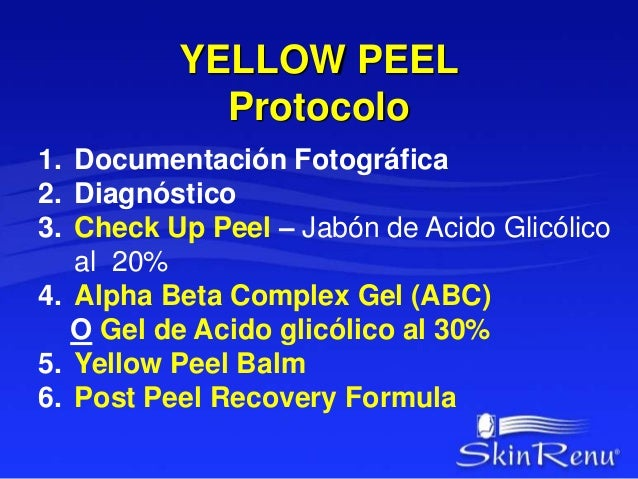 YELLOW PEEL  Protocolo  YELLOW PEEL BALM