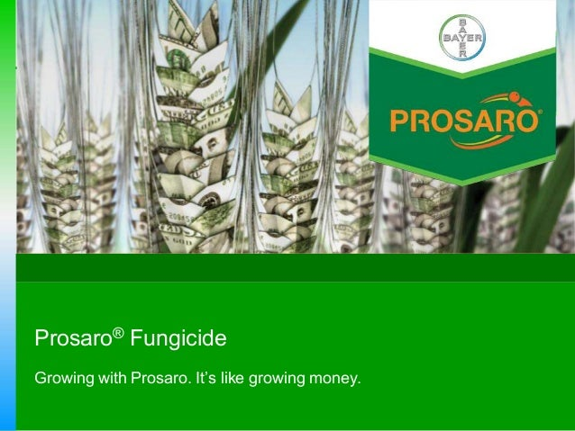 Prosaro® Fungicide Growing with Prosaro. It's like growing money.
