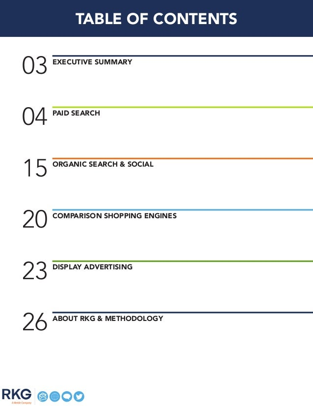 04 PAID SEARCH 03 Executive Summary 15 ORGANIC SEARCH & SOCIAL 20 COMPARISON SHOPPING ENGINES 23 DISPLAY ADVERTISING 26 AB...
