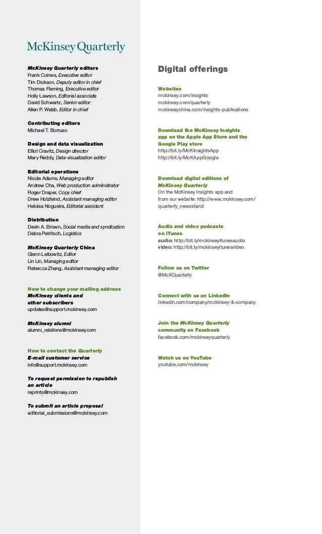 2014 q4 McKinsey quarterly - Competing on the digital edge