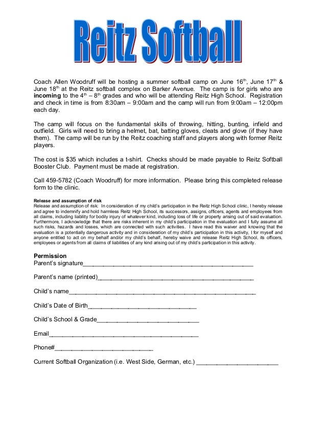Coach Allen Woodruff will be hosting a summer softball camp on June 16th , June 17th & June 18th at the Reitz softball com...