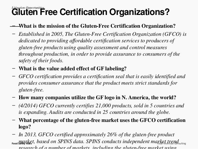 Gluten-Free Food Product Safety: Misbranding and Adulteration