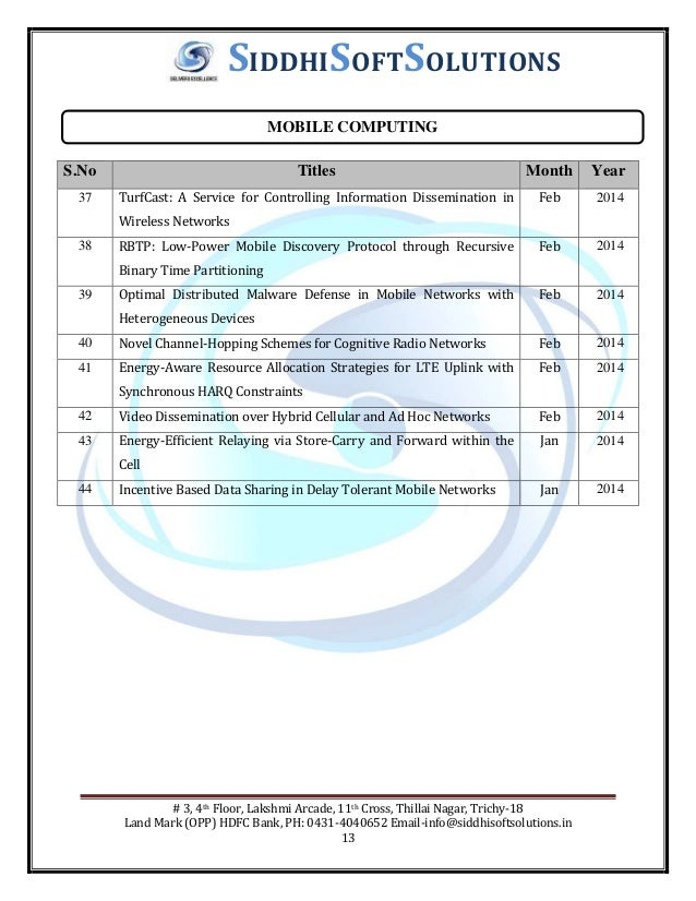 M E ieee projects in Trichy , M E ieee projects titles 2014