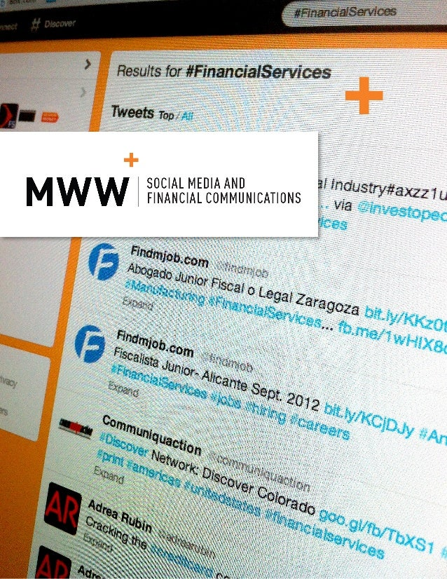 Social Media and Financial Communications