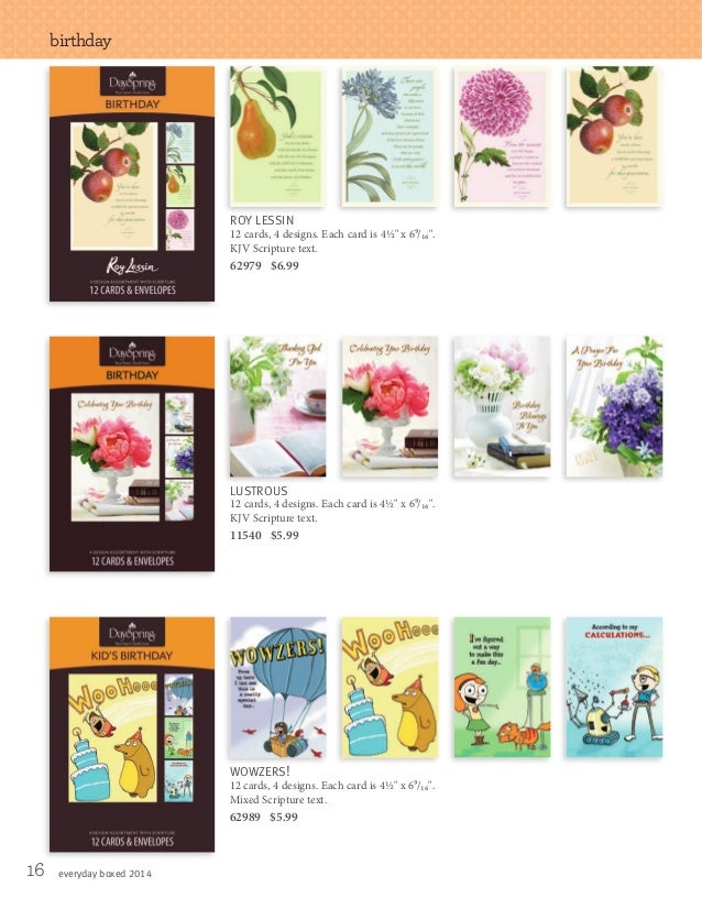 2014 Spring Catalog Of Boxed Card Sets From DaySpring