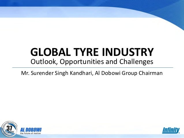 GLOBAL TYRE INDUSTRY Outlook, Opportunities and Challenges Mr. Surender Singh Kandhari, Al Dobowi Group Chairman